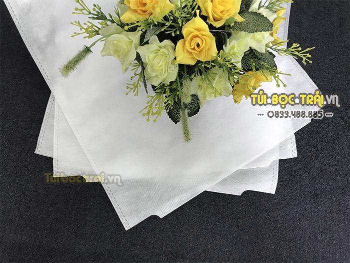 Túi vải bọc trái bưởi kích thước 30x35 dây kẽm