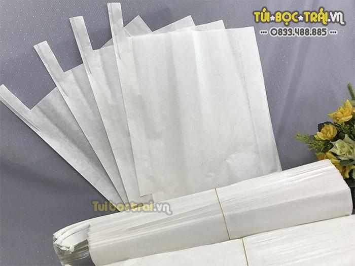 Túi giấy sáp bọc bưởi màu trắng có độ bền cao