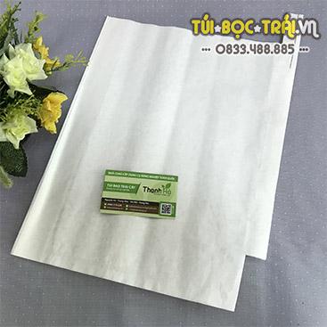 Túi giấy bao trái kích thước 30x35 màu trắng