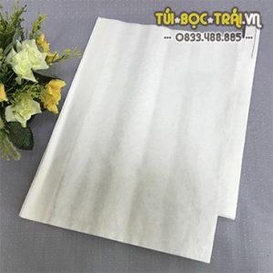 Túi giấy bọc trái cây kích thước 30×35 màu trắng