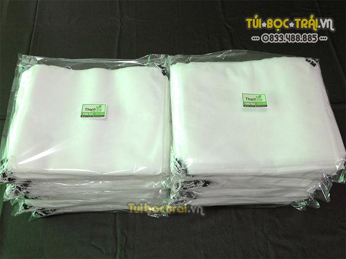 Túi vải bao bưởi loại dây rút kích thước 25x30