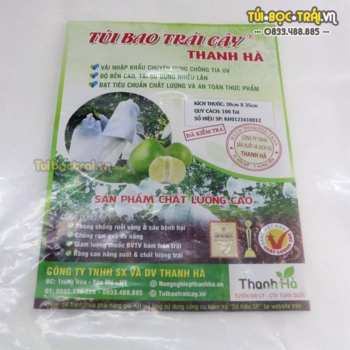 Túi vải bao trái bưởi chống côn trùng châm chích