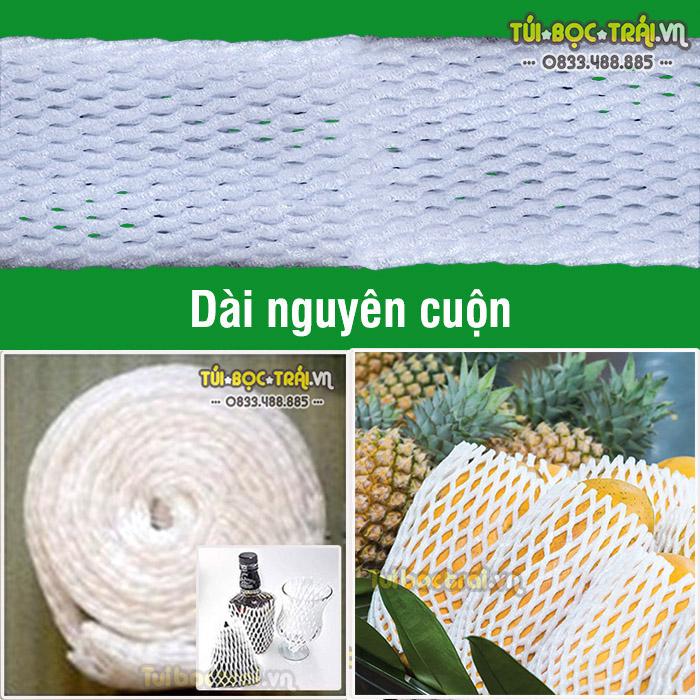 Lưới xốp bọc trái cây nguyên cuộn kích thước rộng 9 cm