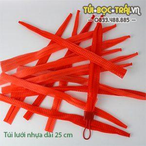 Túi lưới nhựa màu đỏ dài 25 cm (1 kg)