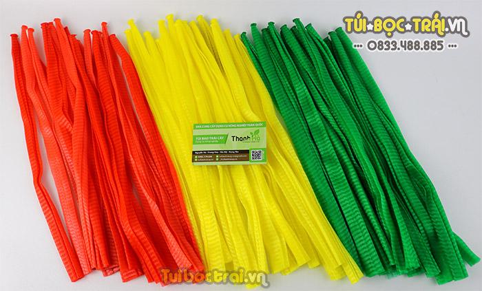 Túi lưới đóng hoa quả các loại màu dài 35 cm
