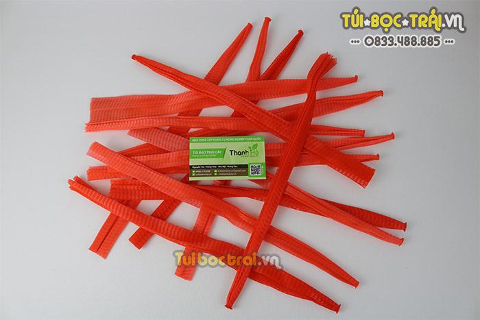 Túi lưới đóng hoa quả loại 40 cm màu đỏ