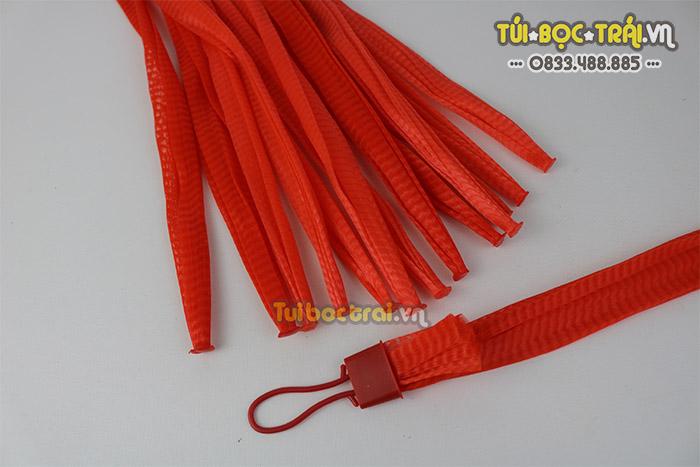 Túi lưới đựng nông sản kích thước 35 cm màu đỏ