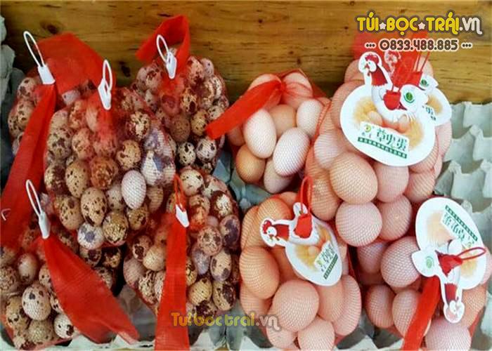 Túi lưới đựng thực phẩm kích thước 40 cm màu đỏ