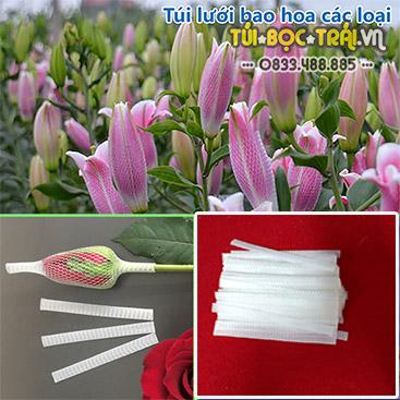 Túi lưới bọc hoa dài 13 cm màu trắng (1 kg)