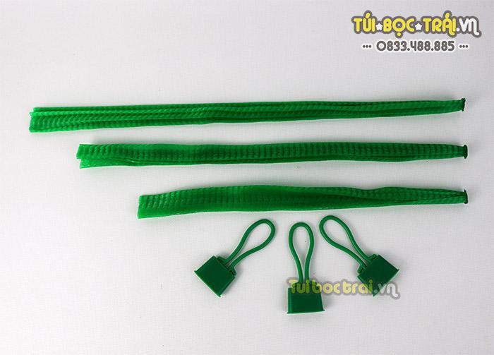 Túi lưới nhựa màu xanh các kích thước