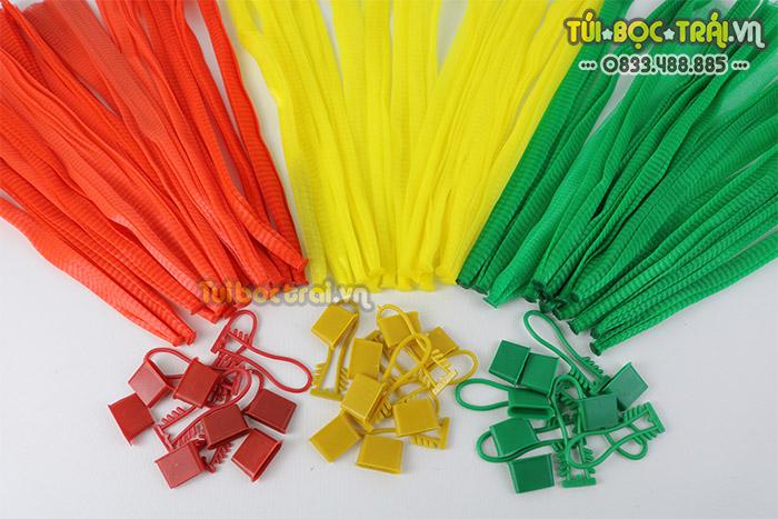 Túi lưới nhựa các loại màu dùng đựng nông sản