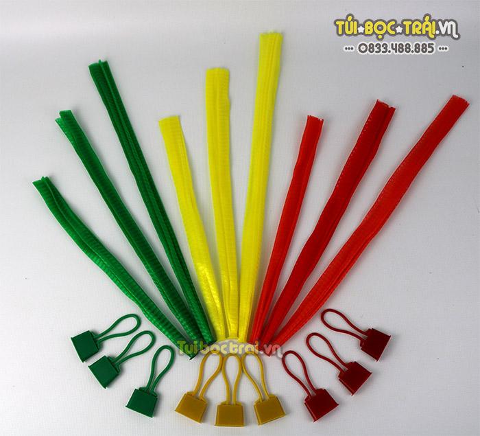 Túi lưới nhựa đựng hoa quả các màu sắc và kích thước