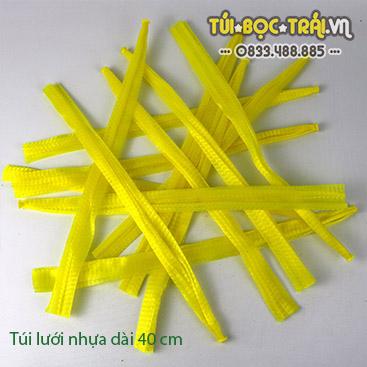 Túi lưới nhựa dài 40 cm màu vàng (1 kg)