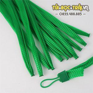 Túi lưới nhựa màu xanh dài 25 cm (1 kg)