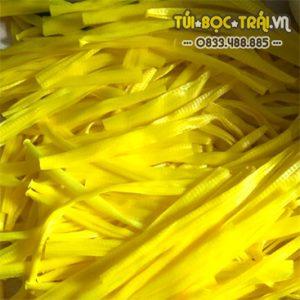 Túi lưới nhựa dài 35 cm màu vàng (1 kg)
